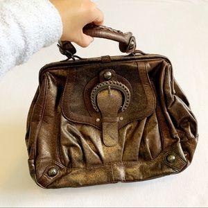 Hype 100% Leather Brown Handbag